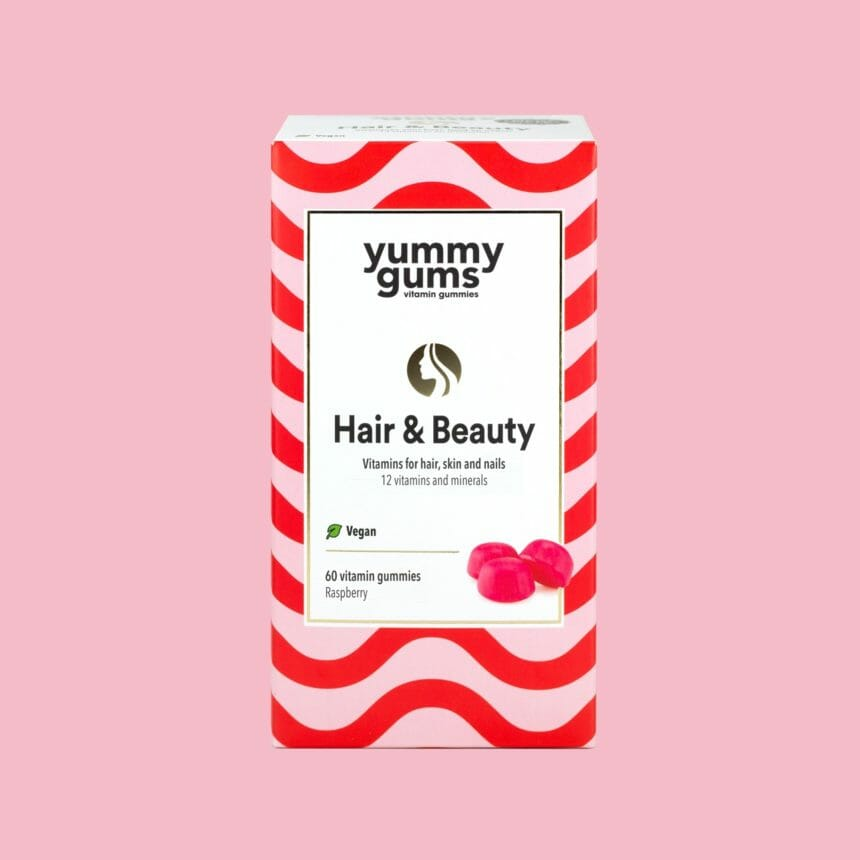 Yummygums Hair & Beauty hair vitamins - also for nails and skin - including 13 essential vitamins and minerals