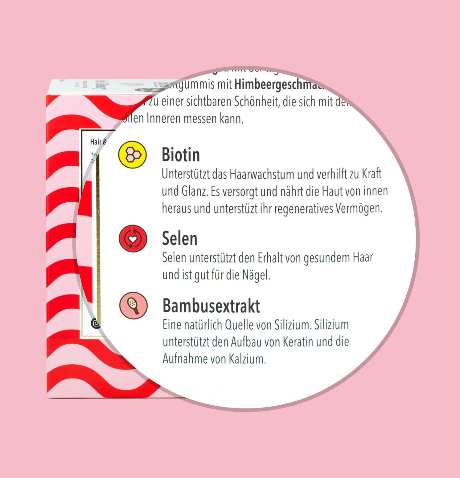 selenium, bamboo und Biotine
