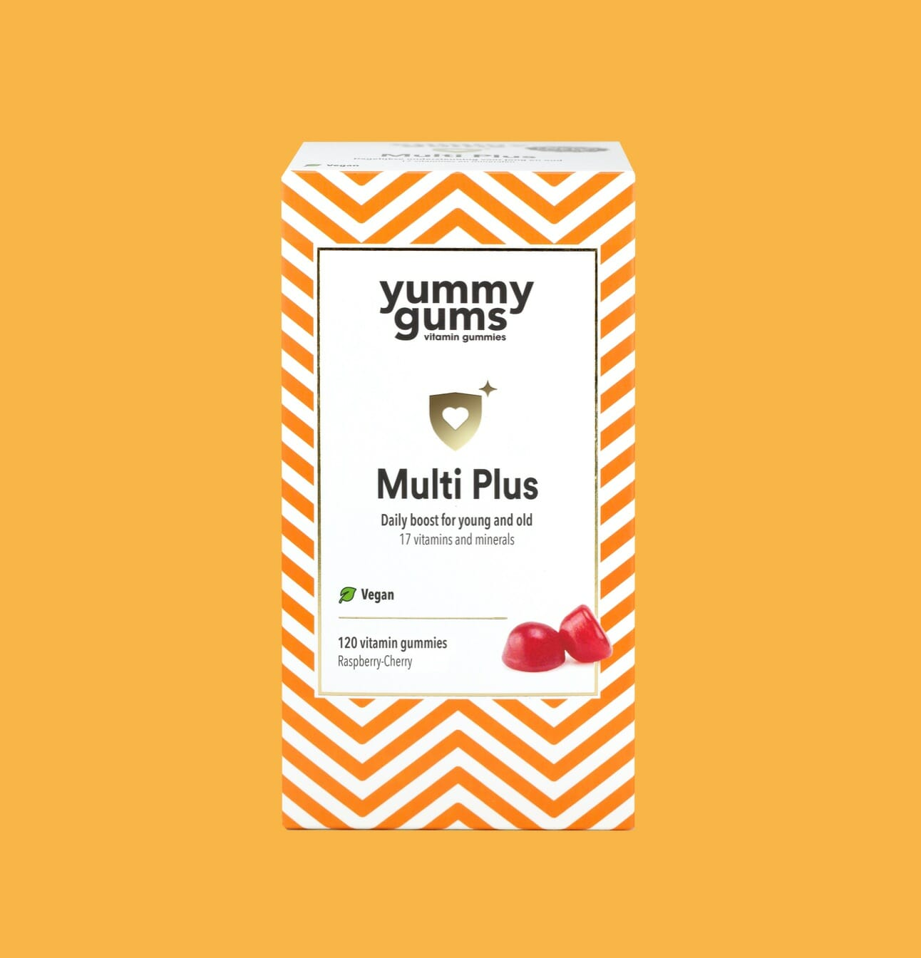 Yummygums Multi Plus - Daily boost for young and old with 17 vitamins and minerals and 100% Vegan