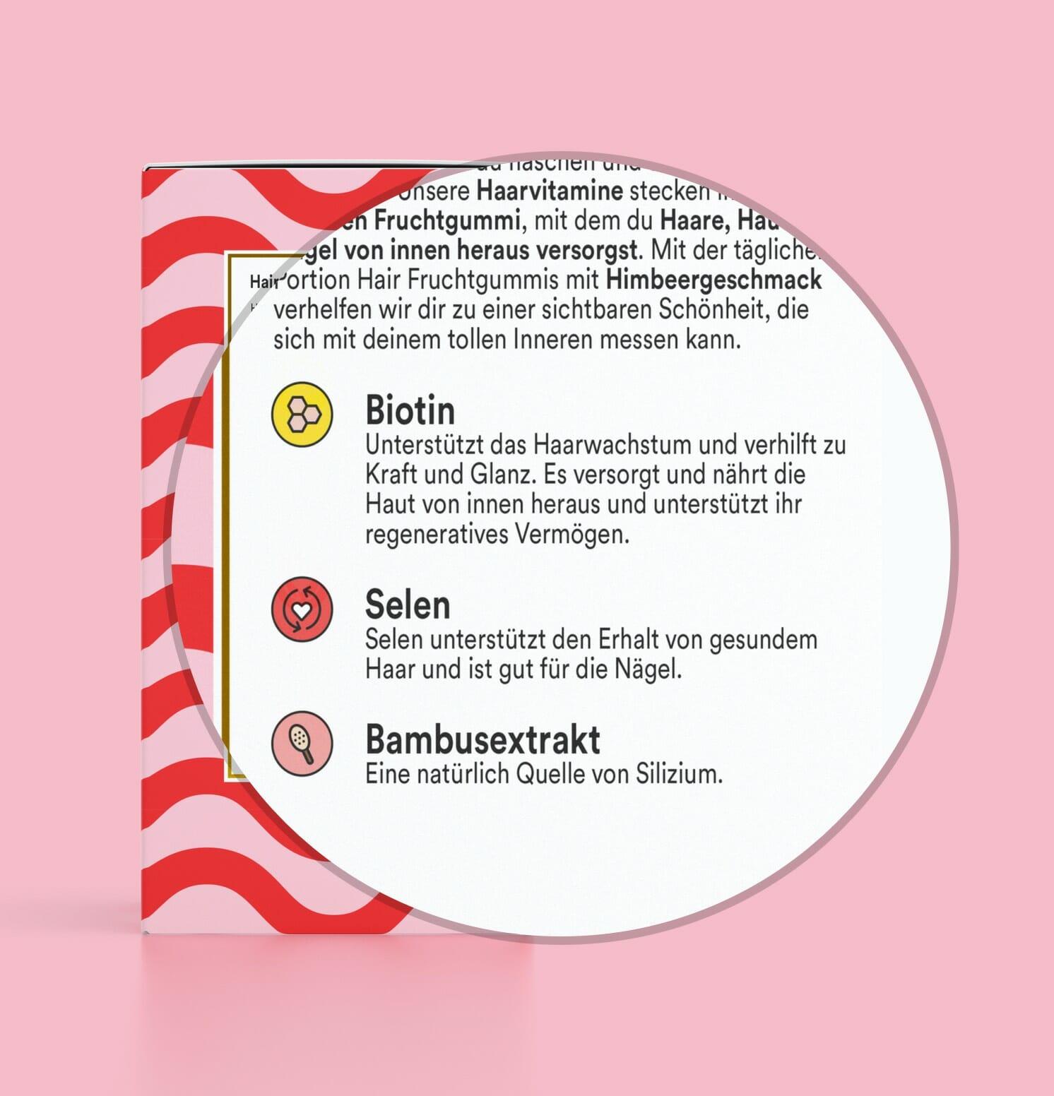 Vitamine für das Haar - Haarvitamine - Biotin - Selen - Yummygums Hair & Beauty