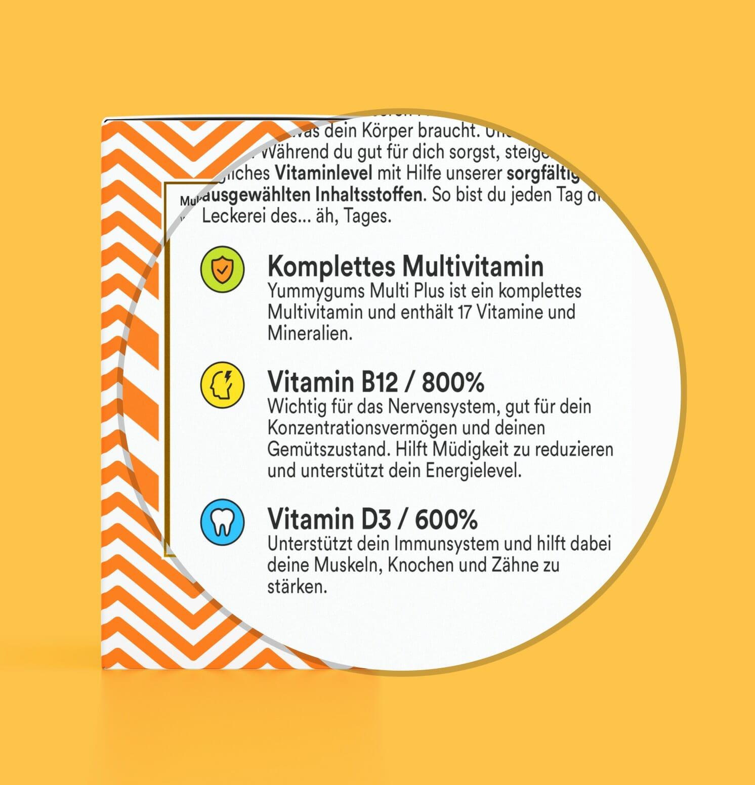 Bestes Multivitamin - Gutes Multivitamin - Multivitamin Kind - Vitamin B12 - Yummygums