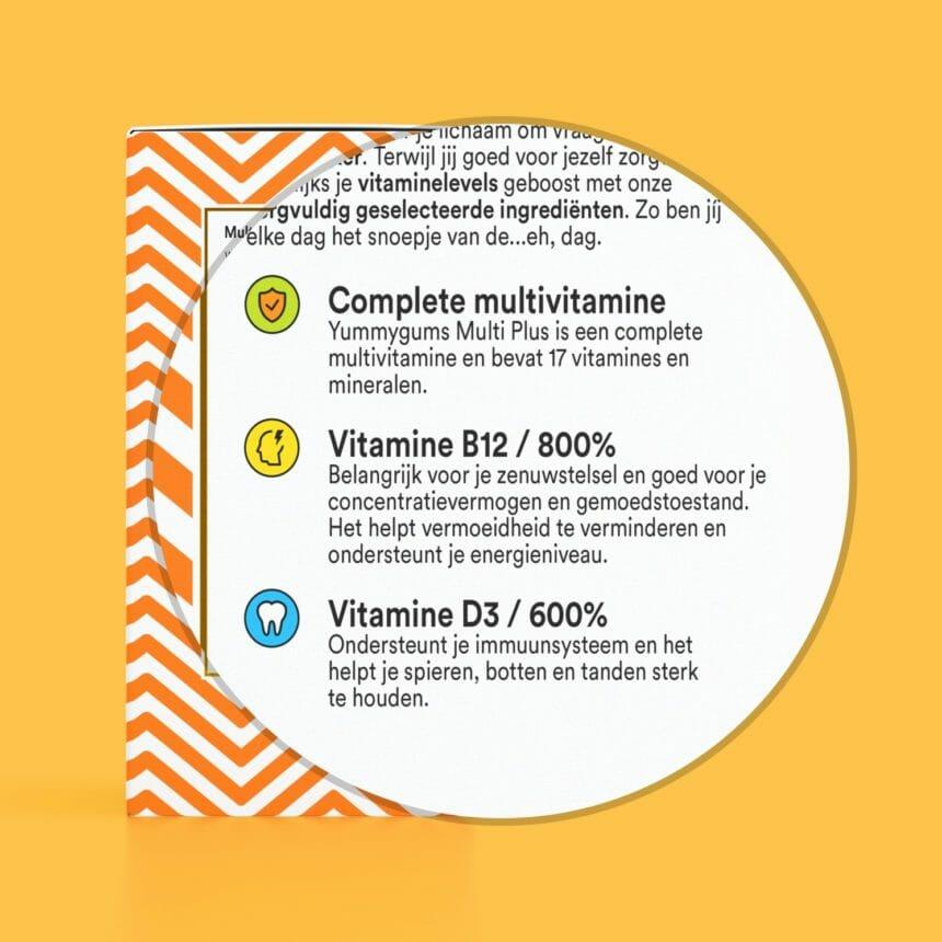 Beste multivitamine - Goede multivitamine - Multivitamine kind - Vitamine B12 - Yummygums