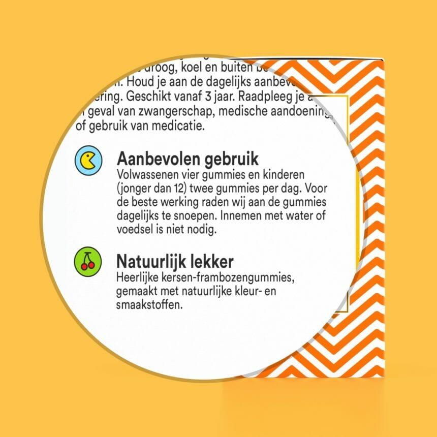 Vegan multivitamine - Natuurlijke multivitamine - Multi plus Yummygums
