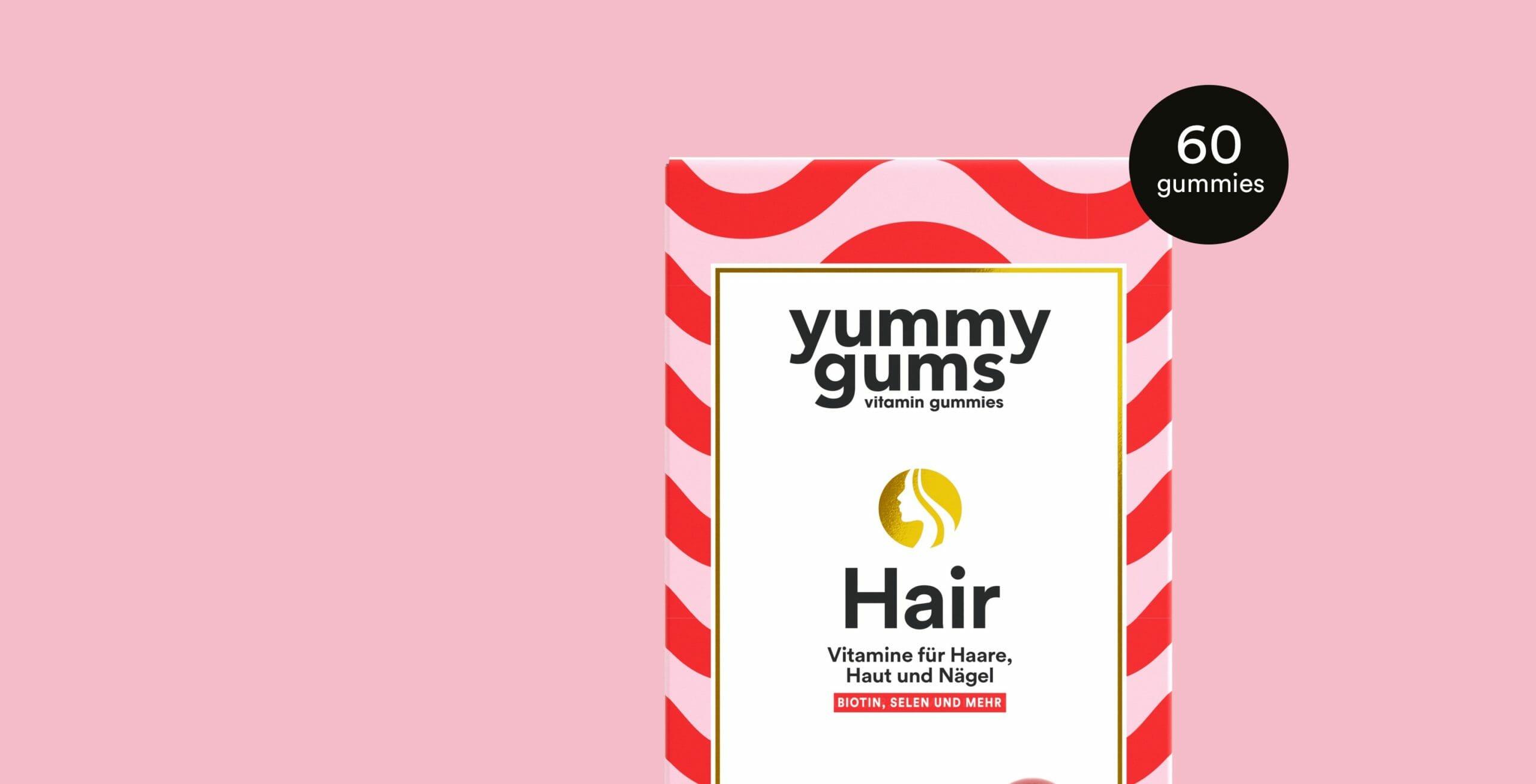 Probieren Sie die Haar-Vitamin-Gummis von Yummygums - Hair